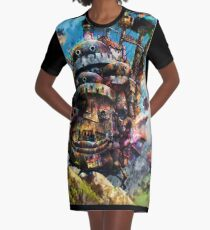 howl's moving castle Graphic T-Shirt Dress