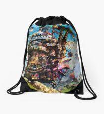 howl's moving castle Drawstring Bag