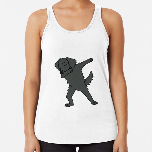 Dabbing   flat coated retriever  -cute gift  cflat coated retriever  for mom,dad,women and men  Racerback Tank Top