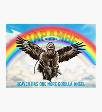 Harambe - Heaven has another Gorilla Angel Photographic Print