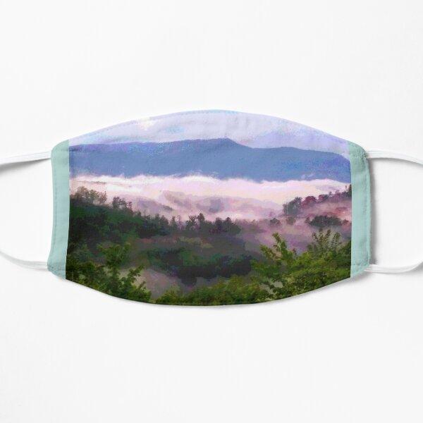 Hazy Mountain Morning Flat Mask