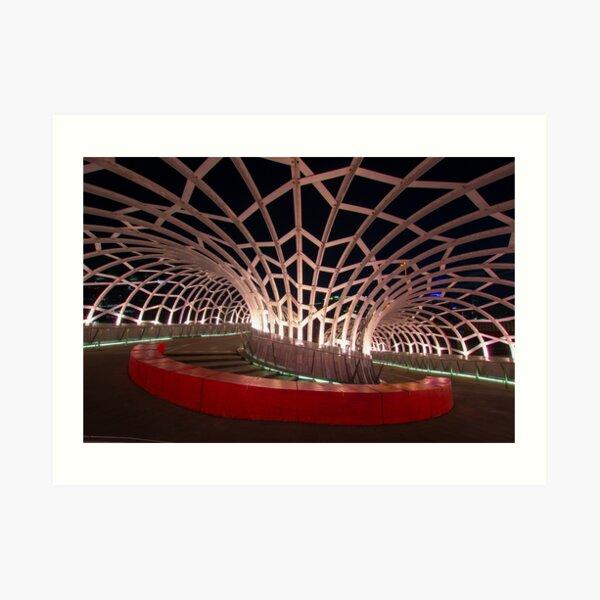 Webb Bridge in Melbourne, Australia Art Print