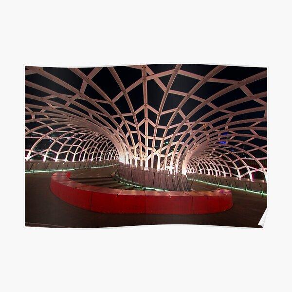 Webb Bridge in Melbourne, Australia Poster