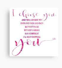 I choose you! Metal Print