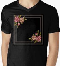 Flowers retro. Men's V-Neck T-Shirt