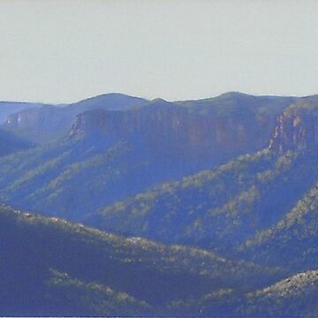 Blue Mountains Grand Vista Oil Painting by Ainslie1