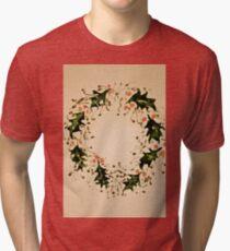 Xmas wreath Tri-blend T-Shirt