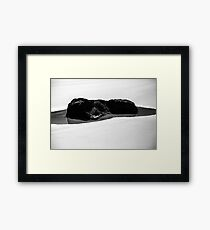 Rockpool On The Beach Framed Print