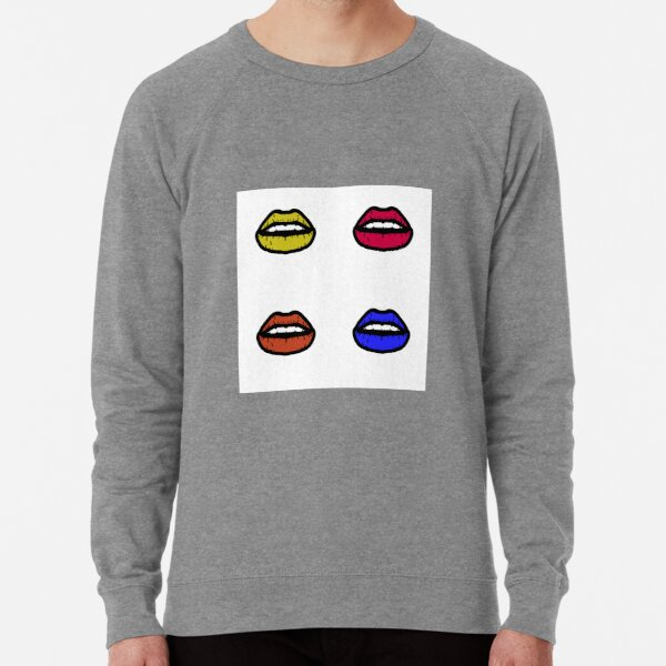 Pretty Neon Lips Lightweight Sweatshirt
