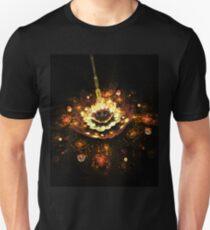 Gold shining in the night Unisex T-Shirt