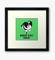 I Shih Tzu Not Framed Print