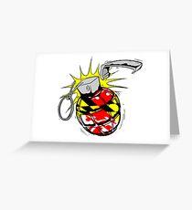 Maryland Flag Grenade Greeting Card