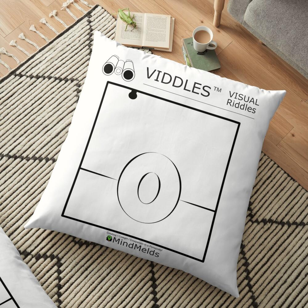 Viddle - Visual Riddles Cowboy Floor Pillow
