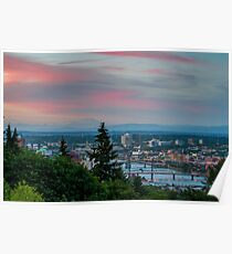 Portland Sunset from OHSU Poster