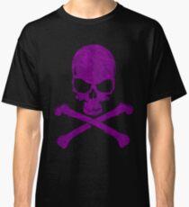 Purple Skull and Bones Classic T-Shirt