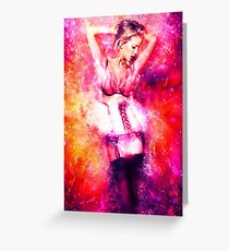 Cosmic Sexy Collection - Pinup #4 Greeting Card