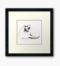 Chinky and Chang : ink drawing Framed Print