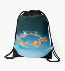 Goldfish Drawstring Bag