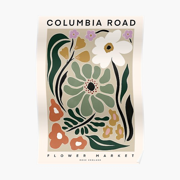 Flower Market Beautiful Columbia Road Poster Poster
