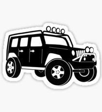 Jeep Wrangler Sticker / Decal - Front 3/4 Touring Design - Black Sticker