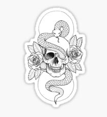 Rebirth Rose Skull Sticker