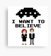 I Want To Believe 8bit Canvas Print