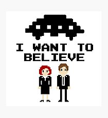 I Want To Believe 8bit Photographic Print