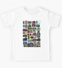 Pixelated Camerass Kids Tee