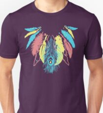 Cute Feather Necklace Graphic  Unisex T-Shirt