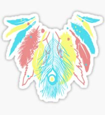 Cute Feather Necklace Graphic  Sticker