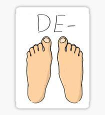 De-Feet Sticker