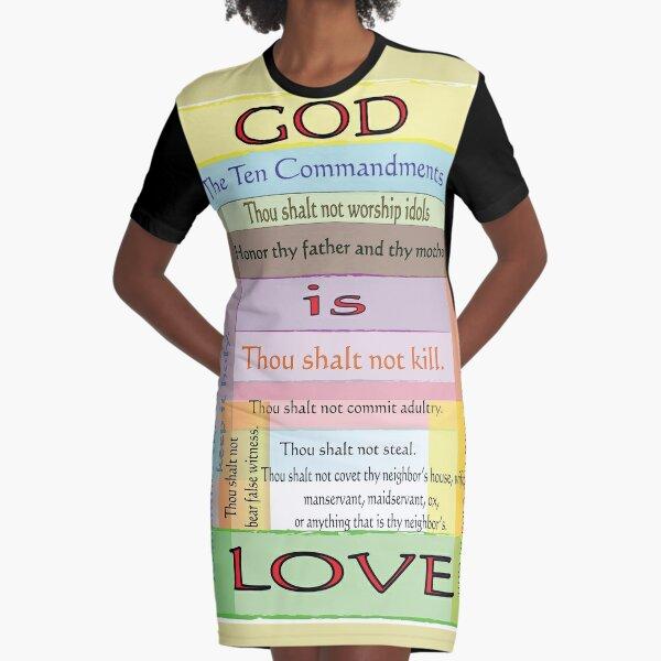 Ten Commandments Graphic T-Shirt Dress