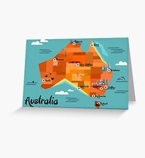 Australia Map Greeting Card