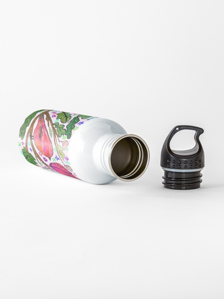 Alternate view of Leaves and Bird Print/ Design  Water Bottle