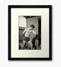 Muscle Man Framed Print