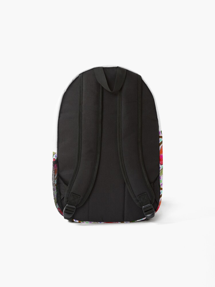 Alternate view of Leaves and Bird Print/ Design  Backpack
