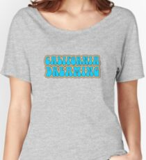 California Dreaming Song Lyrics Hippie 60s Peace Women's Relaxed Fit T-Shirt