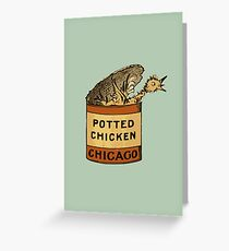 Potted Chicken Greeting Card