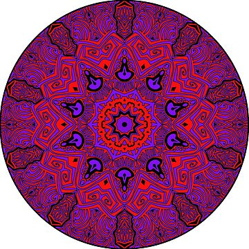 Red and Purple Tribal Mandala by SynicalShirts
