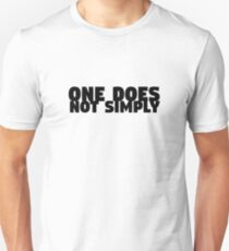 One Does Not Simply Boromir Quote Meme Funny Random Unisex T-Shirt