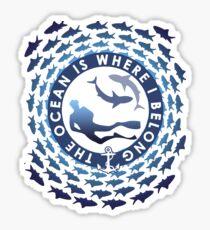 The Ocean Is Where I Belong Sticker