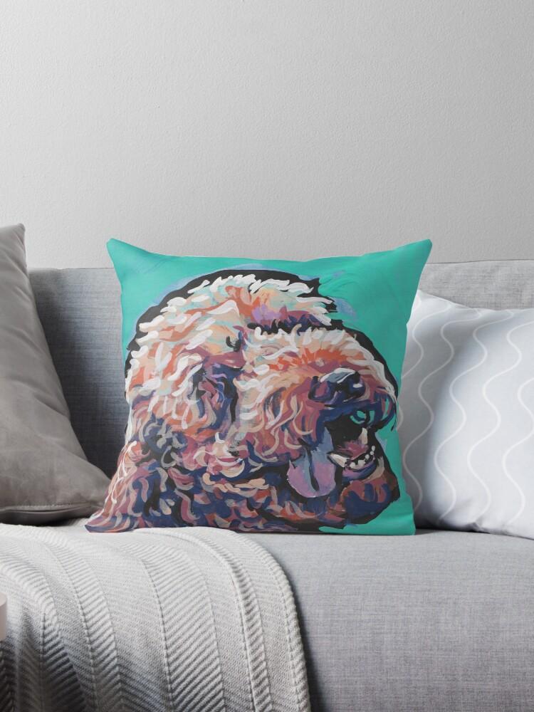 Poodle Labradoodle Golden Doodle Dog Bright colorful pop dog art by bentnotbroken11