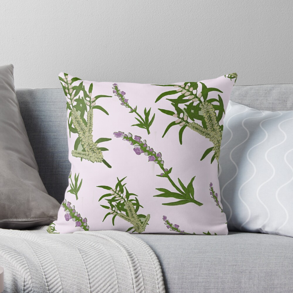 Pastels and Lavender Home Throw Pillow