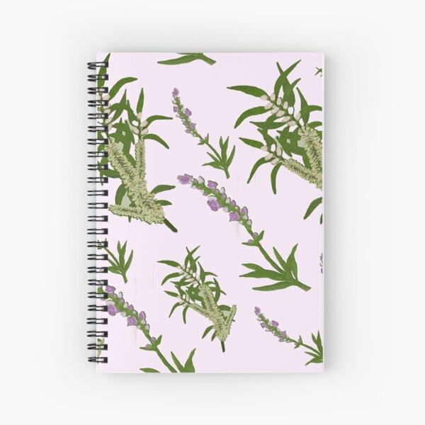 Pastels and Lavender Paper Spiral Notebook