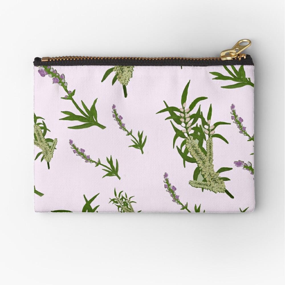 Pastels and Lavender Paper Zipper Pouch