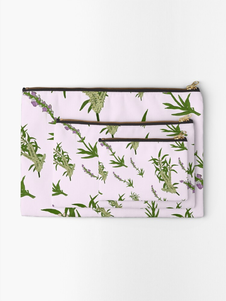 Alternate view of Pastels and Lavender Paper Zipper Pouch