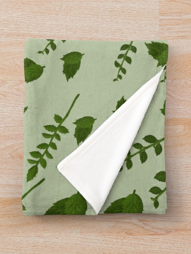 Alternate view of Minty Home Throw Blanket