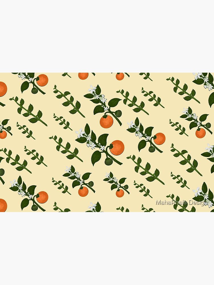 Minty Orange Paper by MahaphalaDesign