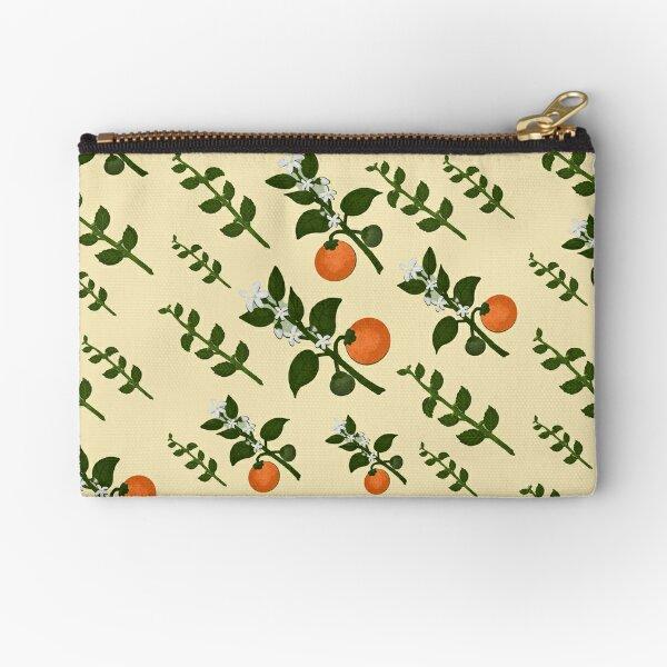 Minty Orange Paper Zipper Pouch