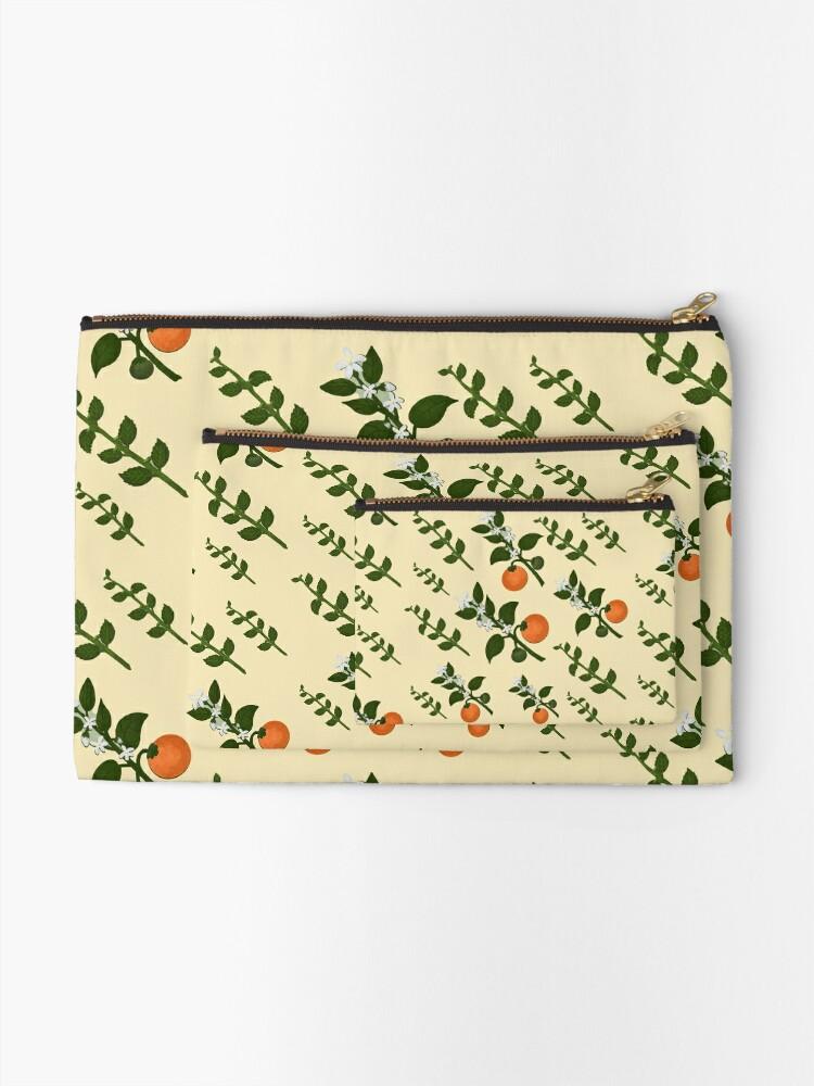 Alternate view of Minty Orange Paper Zipper Pouch